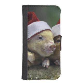 Pig santa claus - christmas pig - three pigs iPhone SE/5/5s wallet case