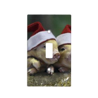 Pig santa claus - christmas pig - three pigs light switch cover