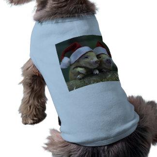 Pig santa claus - christmas pig - three pigs shirt