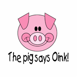 Pig Says Oink Photo Cutout