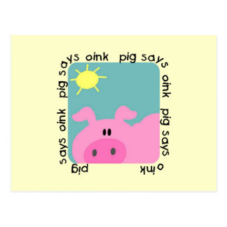 Pig Says Oink Tshirts and Gifts Postcard
