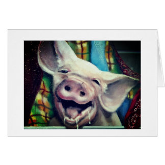 PIG SAYS SOME FUN **ADULT BIRTHDAY** HUMOR CARD