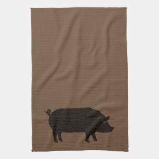 Pig Silhouette Kitchen Towel