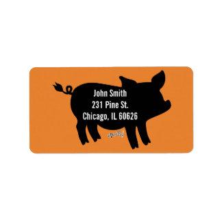 Pig Silhouette Label