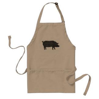 Pig Silhouette Standard Apron