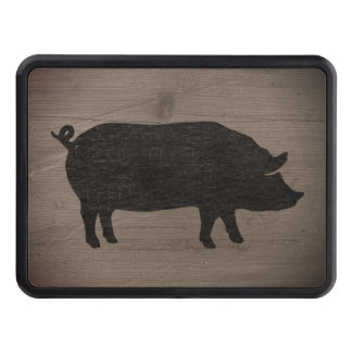 Pig Silhouette Trailer Hitch Cover