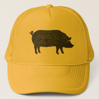 Pig Silhouette Trucker Hat