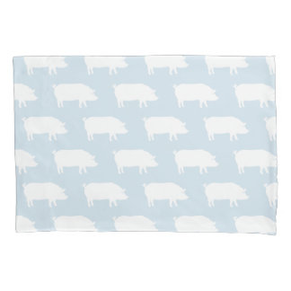 Pig Silhouettes Pattern Pillowcase