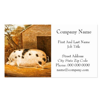 Pig Spotted Hog Vintage Farm Painting Pack Of Standard Business Cards