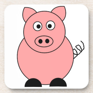 Pig Square Coaster