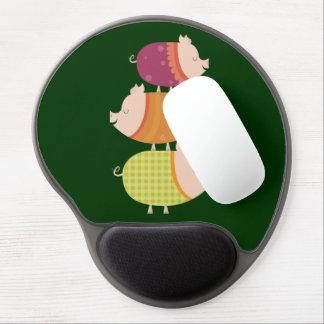 Pig Stack (3 piggies) Gel Mouse Pad