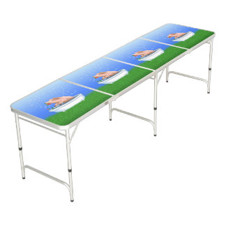 Pig Taking Bath Beer Pong Table