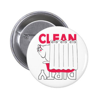 pig taking bath - Clean or Dirty 2 Inch Round Button