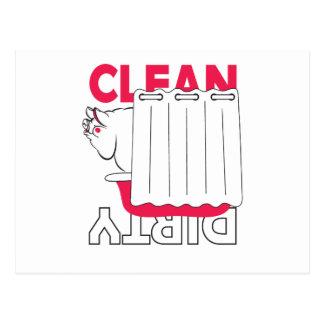 pig taking bath - Clean or Dirty Postcard