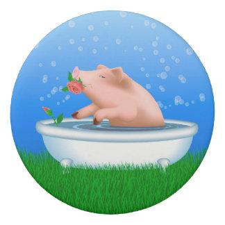 Pig Taking Bath Eraser