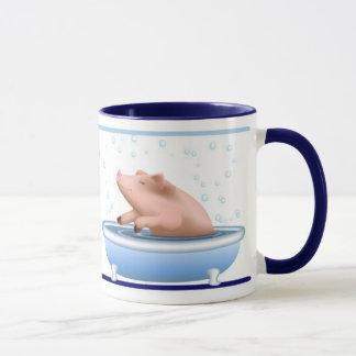 Pig Taking Bath Mug