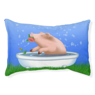 Pig Taking Bath Pet Bed