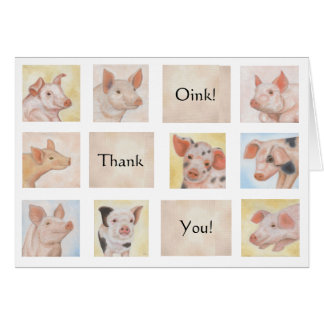 Pig Thank You card