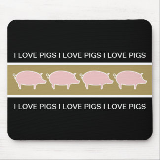 Pig Theme Mouse Pads