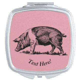 Pig Travel Mirror