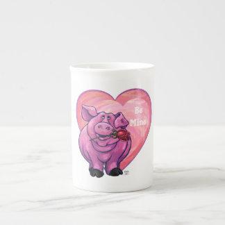 Pig Valentine's Day Tea Cup