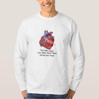 Pig Valve Heart Haiku Art Cotton Shirt- Kevin Shea T-Shirt