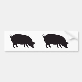 Pig Vintage Wood Engraving Bumper Sticker