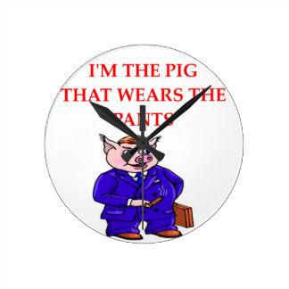 PIG WALLCLOCK