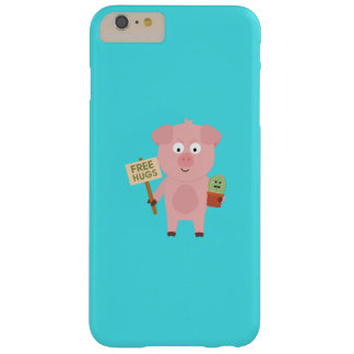 Pig with Cactus Q1Q Barely There iPhone 6 Plus Case