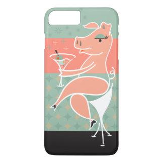 Pig with Martini iPhone 7 Plus Case