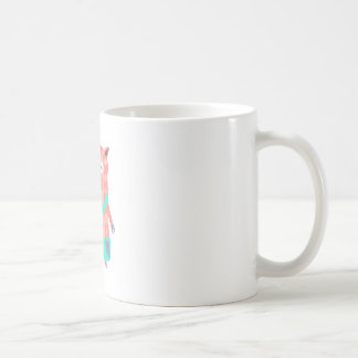 Pig With Party Attributes Girly Stylized Funky Coffee Mug