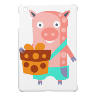 Pig With Party Attributes Girly Stylized Funky iPad Mini Cover