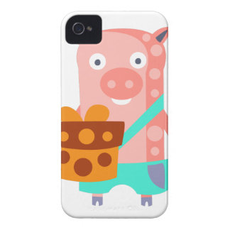 Pig With Party Attributes Girly Stylized Funky iPhone 4 Case