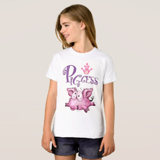 PIGCESS  CARTOON Girls' American Apparel Organic T T-Shirt