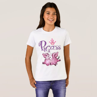 PIGCESS  CARTOON Girls' Bella+Canvas Crew T-Shirt