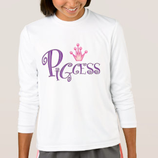 PIGCESS  CARTOON Girls' Sport-Tek Competitor Long T-Shirt