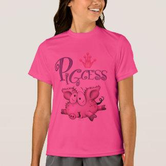 PIGCESS  CARTOON Girls' Sport-Tek Competitor T-Shi T-Shirt