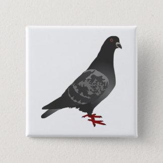 Pigeon 2 Inch Square Button