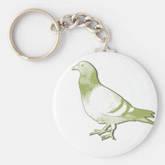 Pigeon Basic Round Button Keychain