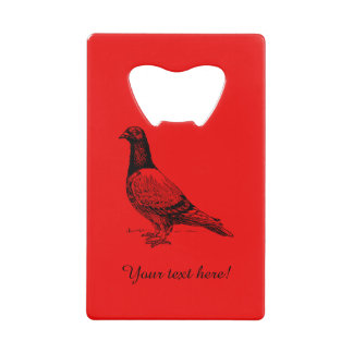 Pigeon Credit Card Bottle Opener