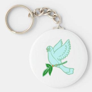 Pigeon de paix dove peace porte-clefs