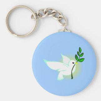 Pigeon de paix dove peace porte-clé