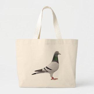 pigeon design large tote bag