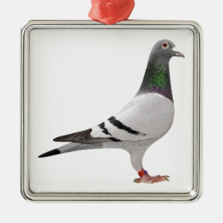 pigeon design metal ornament