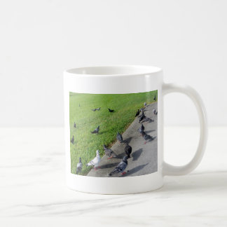pigeon family reunion.JPG Coffee Mug