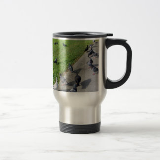 pigeon family reunion.JPG Travel Mug