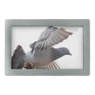 pigeon fly to love joy peace rectangular belt buckle