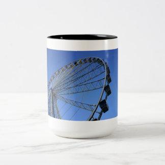 Pigeon Forge Wheel Two-Tone Coffee Mug