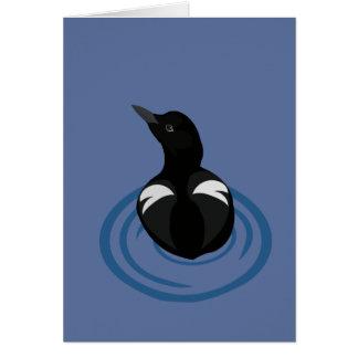 Pigeon Guillemot Vector Art Blank Card
