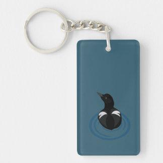 Pigeon Guillemot Vector Art Keychain